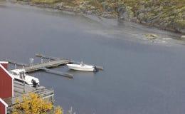 Guld- landningetapp Fotografering för Bildbyråer