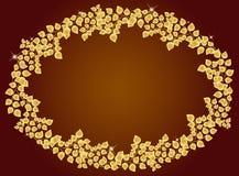 guld- leaf för ram Royaltyfria Bilder