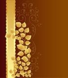 guld- leaves för bakgrund Royaltyfri Foto