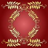 guld- leaves för emblem Arkivbilder