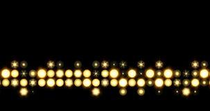 Guld- LEDD linje ljusbakgrund som flyttar sig upp stock video