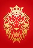 Guld- lejonkonung Arkivfoton