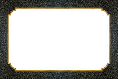 Guld- linje på stentextur Royaltyfria Foton
