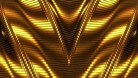 guld- linjer för bakgrund stock video