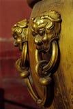 guld- lion Royaltyfri Fotografi