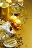 guld- livstid för jul fortfarande Fotografering för Bildbyråer