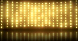 Guld- ljus vägg