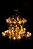 guld- ljuskrona Royaltyfri Bild