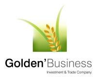guld- logo för affär Royaltyfri Bild