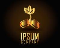 Guld- Logo Vector Royaltyfri Foto