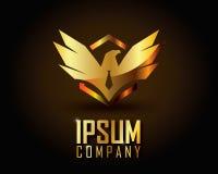 Guld- Logo Vector Royaltyfria Bilder