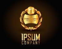 Guld- Logo Vector Arkivbilder