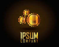 Guld- Logo Vector Royaltyfri Bild