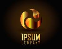 Guld- Logo Vector Arkivbild