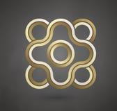 Guld- logodesign Vektortecken för affärsföretag Lyxigt guld- tecken 10 eps royaltyfri illustrationer