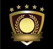 Guld- logomall Arkivbilder