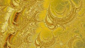 Guld- lutningfractalbakgrund för kort eller baner på easter som gifta sig inbjudan, rengöringsduk, reklamblad Royaltyfri Fotografi