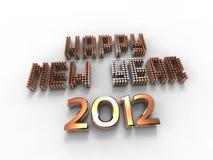 guld- lyckligt nytt år Royaltyfria Foton