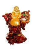 guld- lyckligt skratta för buddha figurine arkivbild