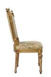 guld- lyxig tappning för stol Royaltyfri Fotografi