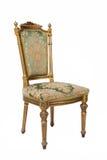 guld- lyxig tappning för stol Royaltyfri Foto