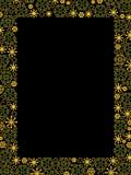 guld- lyxiga snowflakes för kant vektor illustrationer