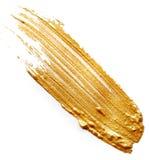 guld- målarfärg royaltyfri bild