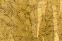Guld- målarfärg för akryl Arkivfoton