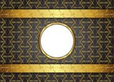 Guld- mörk tappningbakgrund Royaltyfria Bilder