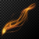Guld- magisk ljus effekt Royaltyfria Bilder