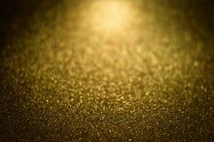 Guld- magiskt skinande blänker dekorativ textur, texturerat metalliskt Arkivfoton