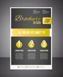 Guld- mall för affärsbroschyr- eller erbjudandereklambladdesign Broschyr vektor illustrationer