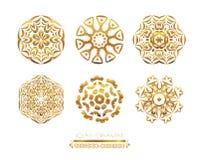 Guld- Mandala Royaltyfri Foto