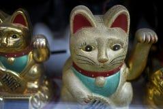 Guld- manekineko arkivbilder