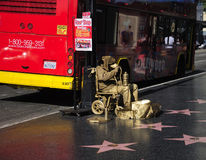 Guld- manhollywood boulevard Royaltyfri Bild