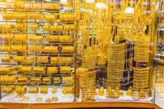 Guld- marknad i Duba Arkivbild