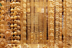 Guld- marknad i Dubai, Deira Arkivfoto