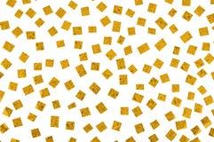 guld- marmorerade paper snippets Royaltyfria Bilder