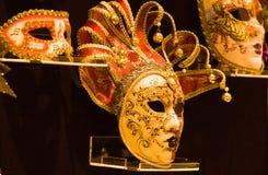 Guld- maskering Royaltyfria Bilder