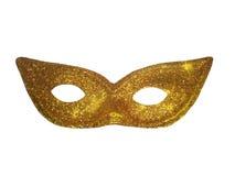 Guld- maskering Fotografering för Bildbyråer
