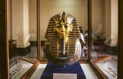 Guld- maskering av Tutankhamun Arkivbilder