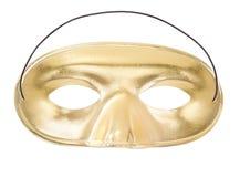 guld- maskering för karneval Fotografering för Bildbyråer