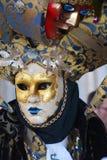 Guld- maskering med garneringar, Venedig, Italien, Europa, slut upp Royaltyfria Foton