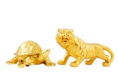 guld- maskot Royaltyfri Bild