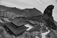 Guld- maximum av det Fanjing berget arkivbilder