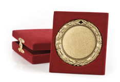 guld- medalj royaltyfria foton
