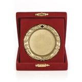 guld- medalj royaltyfria bilder