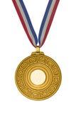 Guld- medalj arkivfoto