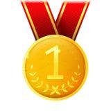 guld- medaljvektor Royaltyfri Fotografi