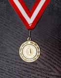 guld- medaljvektor Arkivbilder
